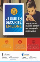Be safe and secure online poster in French
