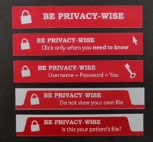 image of five privacy stickers