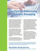 Ten Tips for Addressing Employee Snooping cover