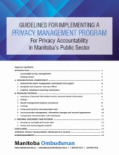 Privacy Management Program Guidelines cover