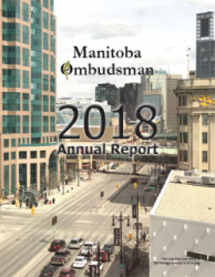 Cover of Manitoba Ombudsman's 2018 Annual Report