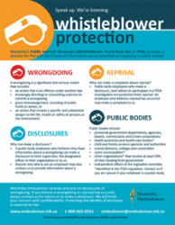 whistleblower protection infographic